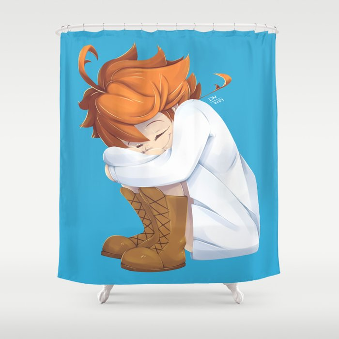 Emma The Promised Neverland Anime Shower Curtain By Timecat