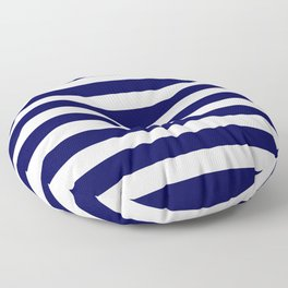 Navy Blue & White Stripes - Mix & Match with Simplicity of Life Floor Pillow