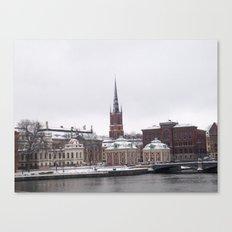 Stockholm Winter Canvas Print