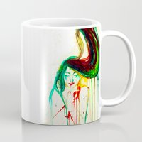 coldplay Mugs featuring Lost by Santa Norvaisaite