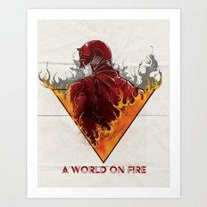 A World on Fire Art Print
