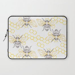 Honey Bee Pattern Laptop Sleeve