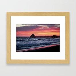 Surf City Sunsets   8/30/15   Huntington Beach California Framed Art Print