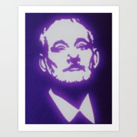 bill murray Art Prints featuring Bill Murray by Beastie Toyz