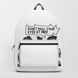 Don't roll your Eyes on me Zombie Halloween Backpack