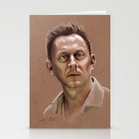ben giles Stationery Cards featuring Ben by Jackie Sullivan