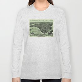 Vintage Pictorial Map of Onset Bay MA (1885) Long Sleeve T-shirt