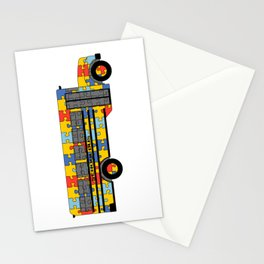 Autism Awareness School Bus Stationery Cards