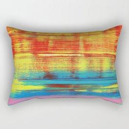 Sunny Sunset, Colorful Abstract Art Rectangular Pillow