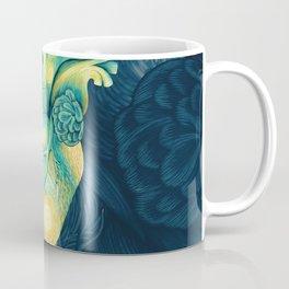 Anatomical Human Heart - Starry Night Inspired Coffee Mug