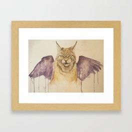 Lynx with wings Framed Art Print