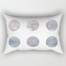 Pretty Pastels Blue and Pink Polka Dots Rectangular Pillow