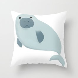 Dugong Throw Pillow