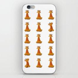 Orange Giraffe iPhone Skin