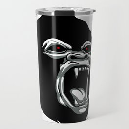 Angry gorilla head. Travel Mug