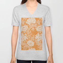 "William Morris ""Chrysanthemum"" 3. Unisex V-Neck"