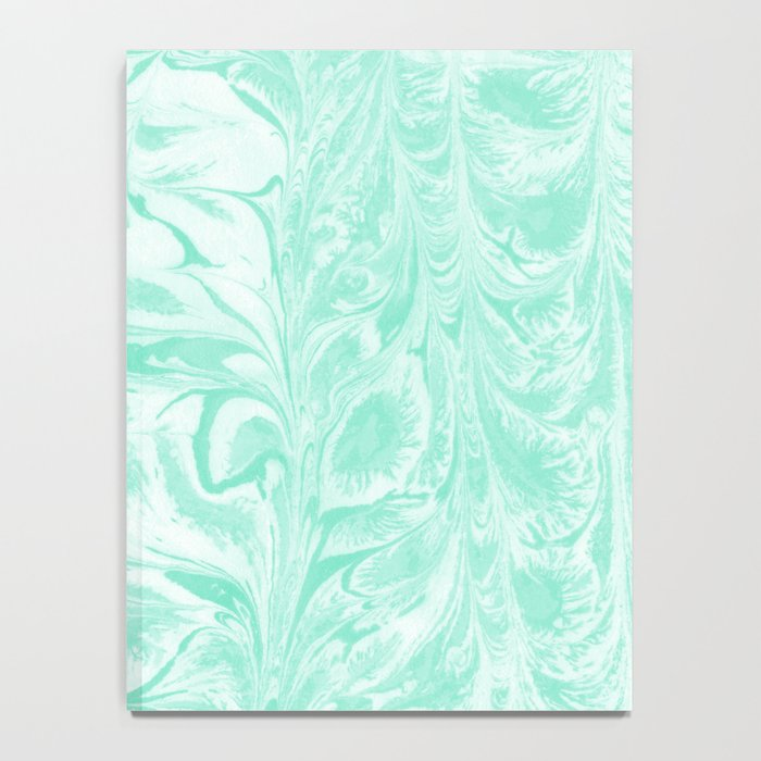 Umeko - spilled ink marble paper marbling art  painting abstract swirl water ocean landscape map Notebook