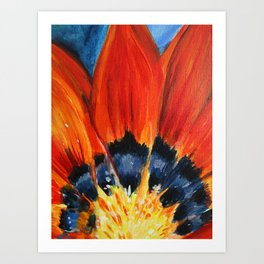 Orange Flower Painting Art Print