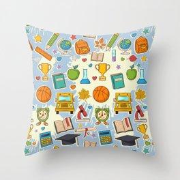 School Cool Throw Pillow