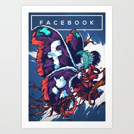 Social Networks / Facebook Art Print