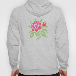 Embroidered red rose Hoody
