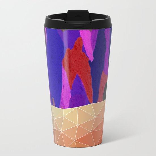 Abstract Colorful Pastel look Design Metal Travel Mug