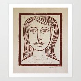 Portrait a La Picasso Art Print