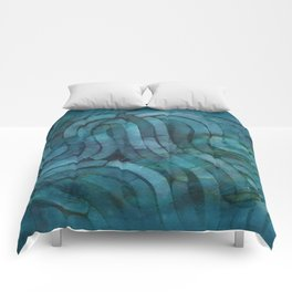 'Careful Where You Stand, In Aquamarin' Comforters