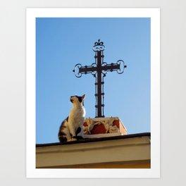 Heavenly Cat Art Print