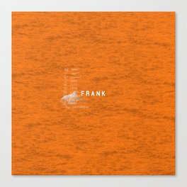Frank Artwork Canvas Print