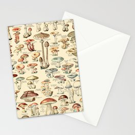 Trippy Vintage Mushroom Chart // Champignons by Adolphe Millot XL 19th Century Science Artwork Stationery Cards