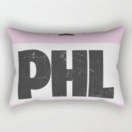 PHL Philadelphia airport code Rectangular Pillow