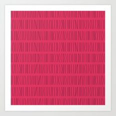 Vertical Lines Pattern Art Print