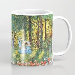 Claude Monet The Artist's Family In The Garden Coffee Mug