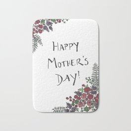 Mother's Day Card Bath Mat