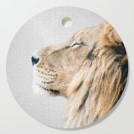 Lion Portrait - Colorful Cutting Board