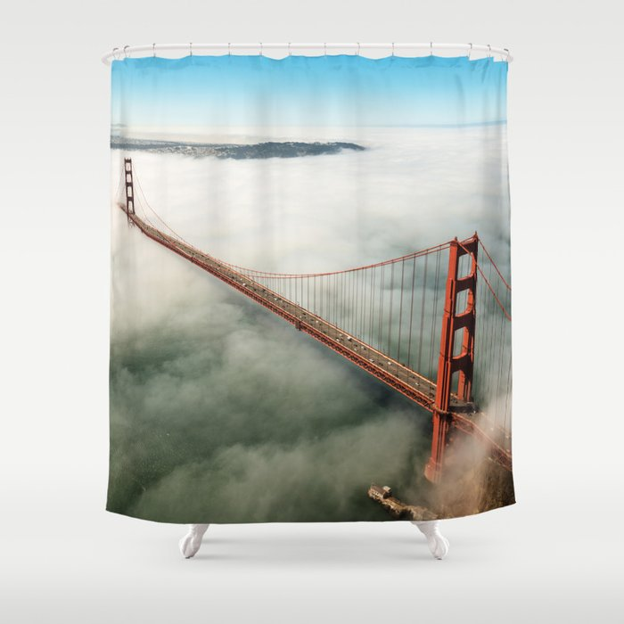 San Francisco Golden Gate Bridge Shower Curtain