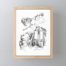 Wendy Thompson Hut - Single Line Framed Mini Art Print