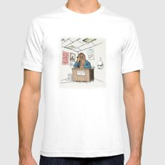 Chewwie at work Mens Fitted Tee White MEDIUM