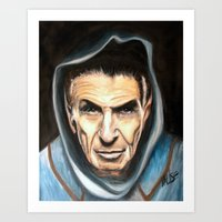 spock Art Prints featuring Spock by James Kruse