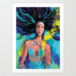 Blue world Art Print