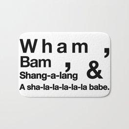 Wham Bam Shang-a-lang - Helvetica List Bath Mat
