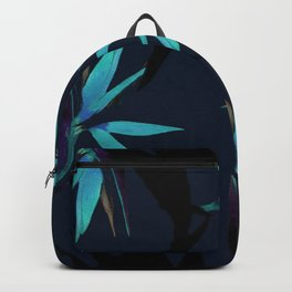 Fall print in navy and bright blue (also available in forest green and mustard) Backpack