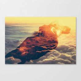 Sunrise over the Clouds Canvas Print