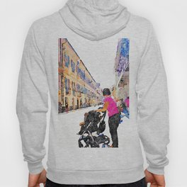 Teramo: woman with wheelchair at the course Hoody