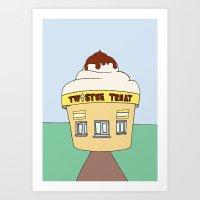 Ice Cream Sunday - Twistee Treat Art Print