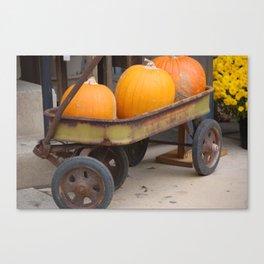 Pumpkin Haul Canvas Print