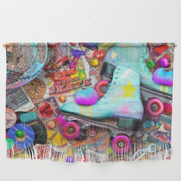 Super Retro Roller Skate Night Wall Hanging
