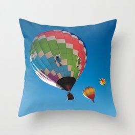 Balloons on Blue Throw Pillow
