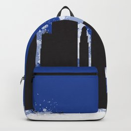Kansas city skyline silhouette Backpack
